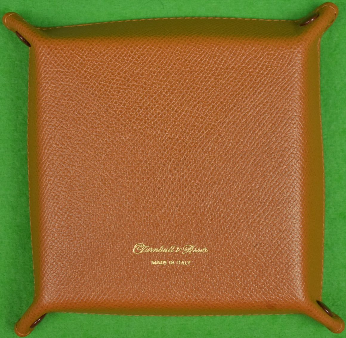 Turnbull & Asser Leather Travel/ Cufflink Tray