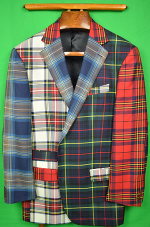 Orvis Dundee Scottish Patch Tartan Multi-Plaid Sport Jacket Sz 44R