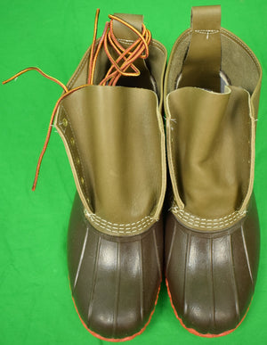 L. L. Bean Limited Edition 5 Eyelet/ Orange Sole Boots Sz 11M New/ Never Worn!