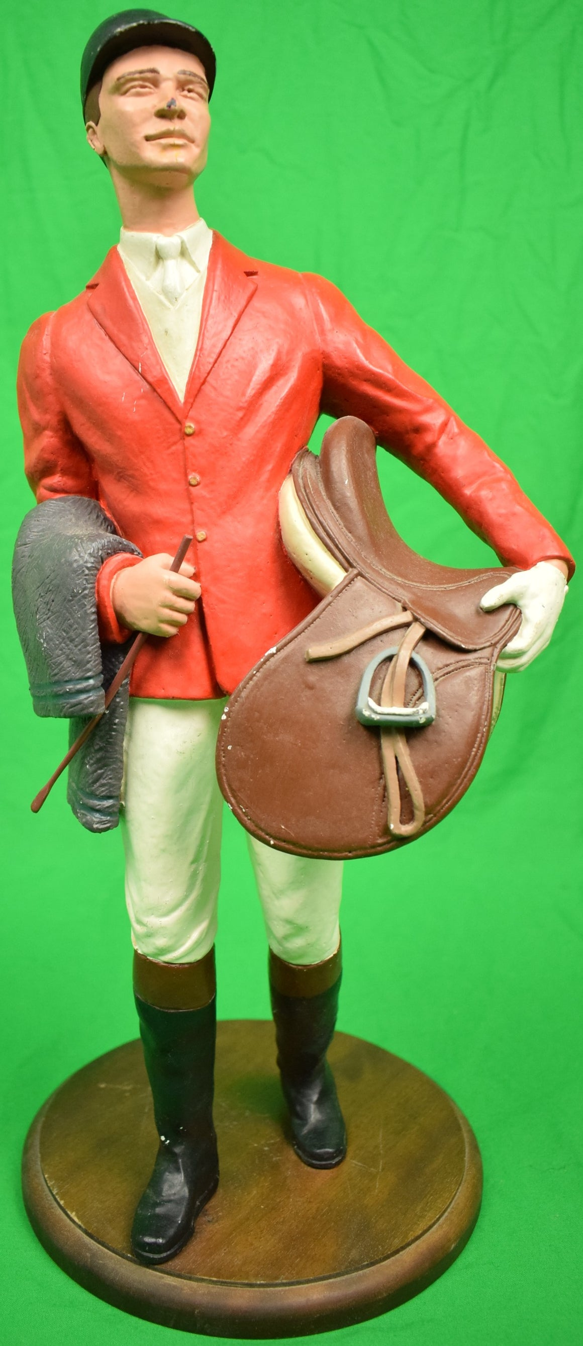 Resin c1940s Huntsman w/ Saddle & Blanket