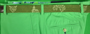 Hand-Needlepoint Belt w/ Fox Chapel Golf Club Logo Sz: 45