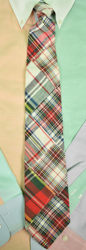 Brooks Brothers Patch Tartan Madras Neck Tie