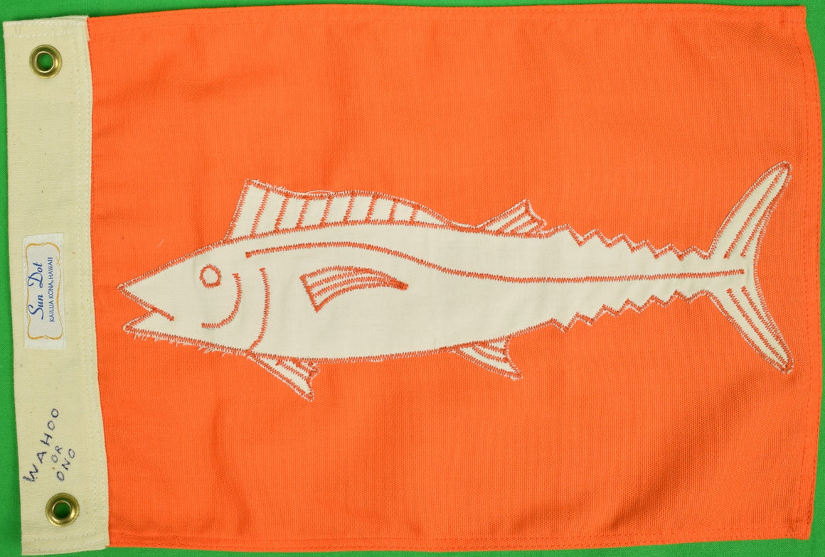 Wahoo Orange Fishing Flag