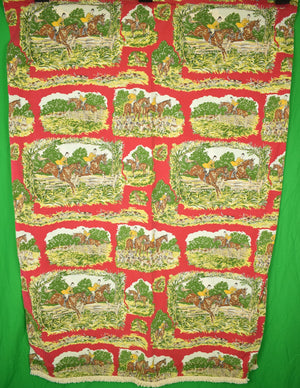 "Paul Brown Equestrian Curtain Panel Sz: 58"" x 36"""