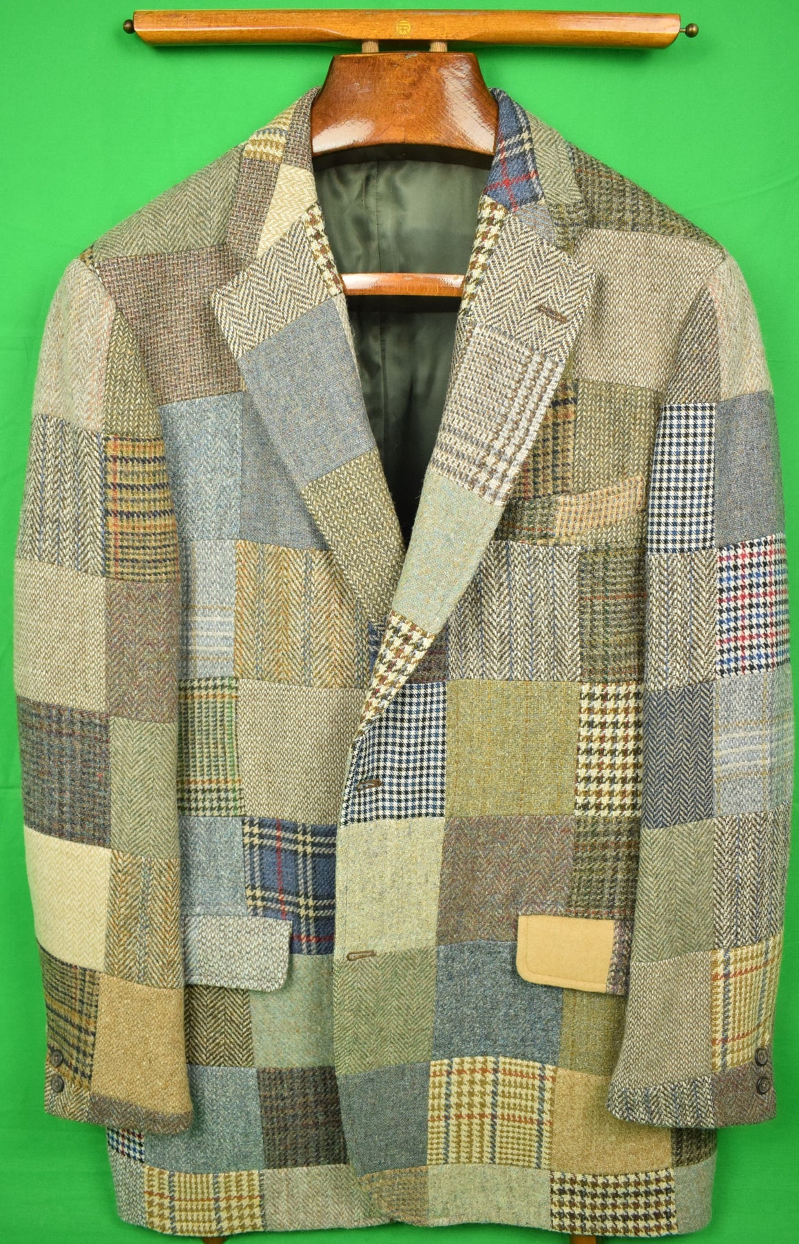 The Andover Shop Patch Panel Tweed Sport Jacket Sz: 48L