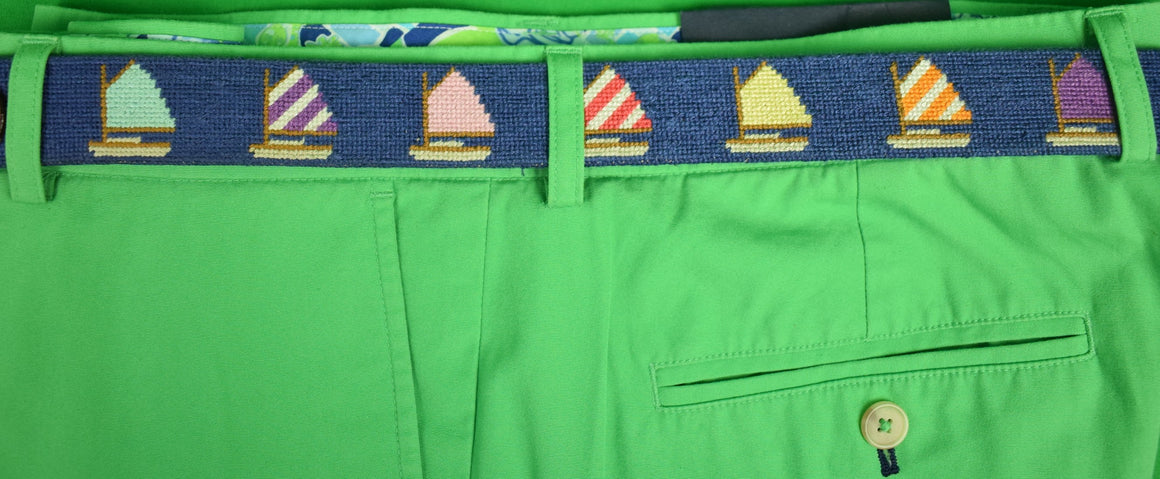 "Smathers & Branson Rainbow Sailboat Belt Sz: 42""W"
