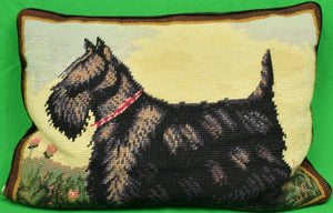 Hand-Needlepoint Scottie Dog Pillow
