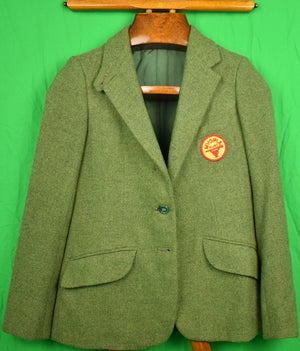 Myopia Hunt Club Olive Tweed Lady's Riding Jacket w/ MHC Crest