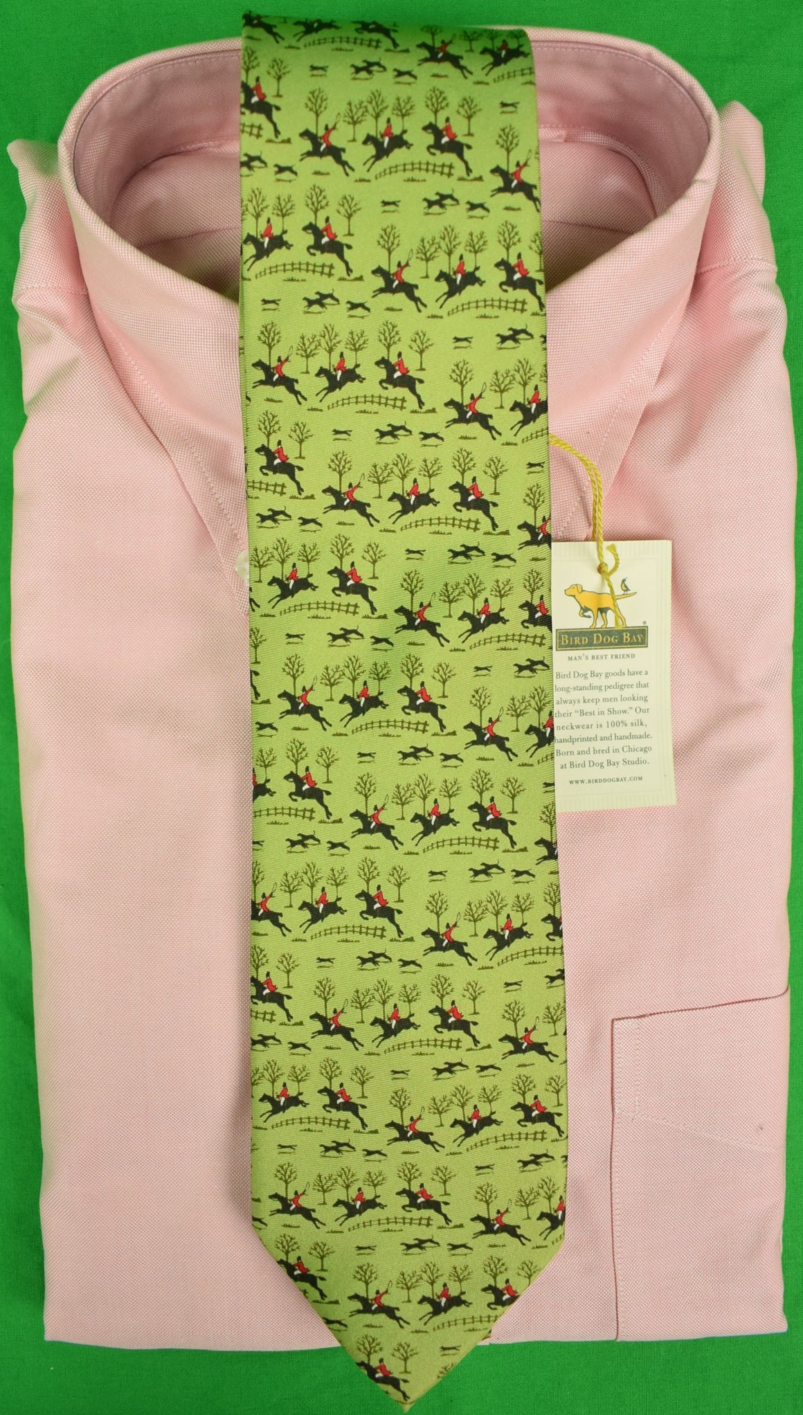 Bird Dog Bay Fox-Hunter Silk Tie (New w/ Tag!)