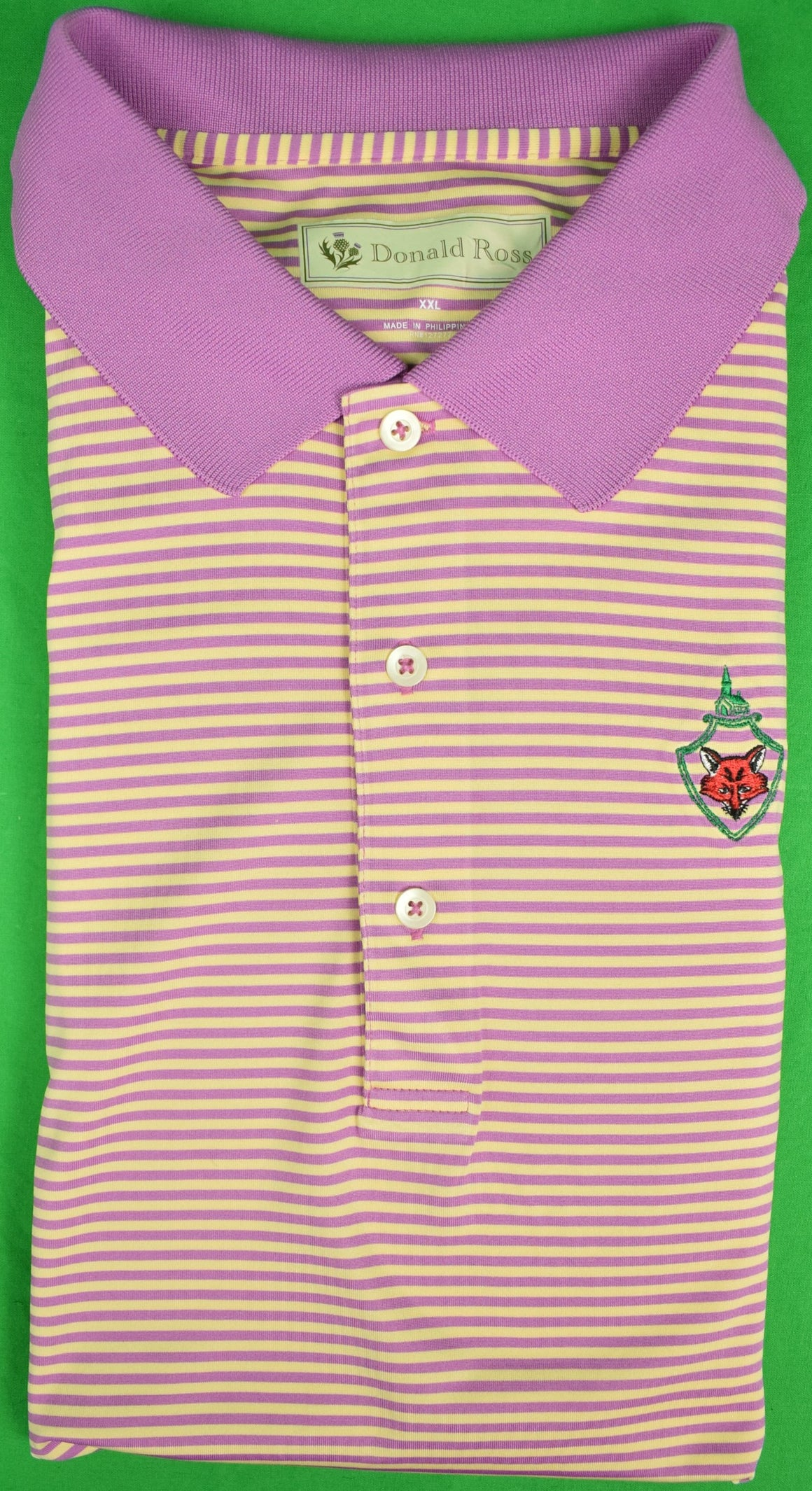 Donald Ross S/S Golf Shirt w/ Fox Chapel Golf Club Logo Sz: XXL