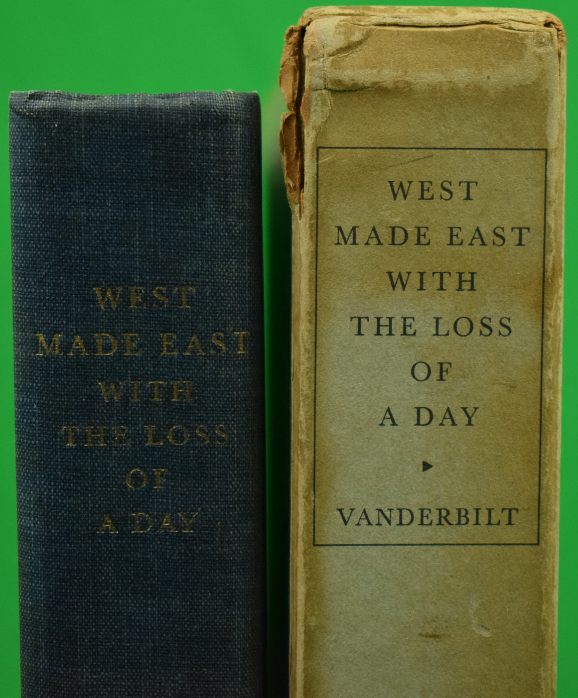 """West Made East With The Loss of A Day"" 1933 VANDERBILT, William K. (Inscribed!)"