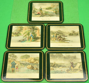 Brooks Brothers Boxed Set of 5 English Angling Coasters