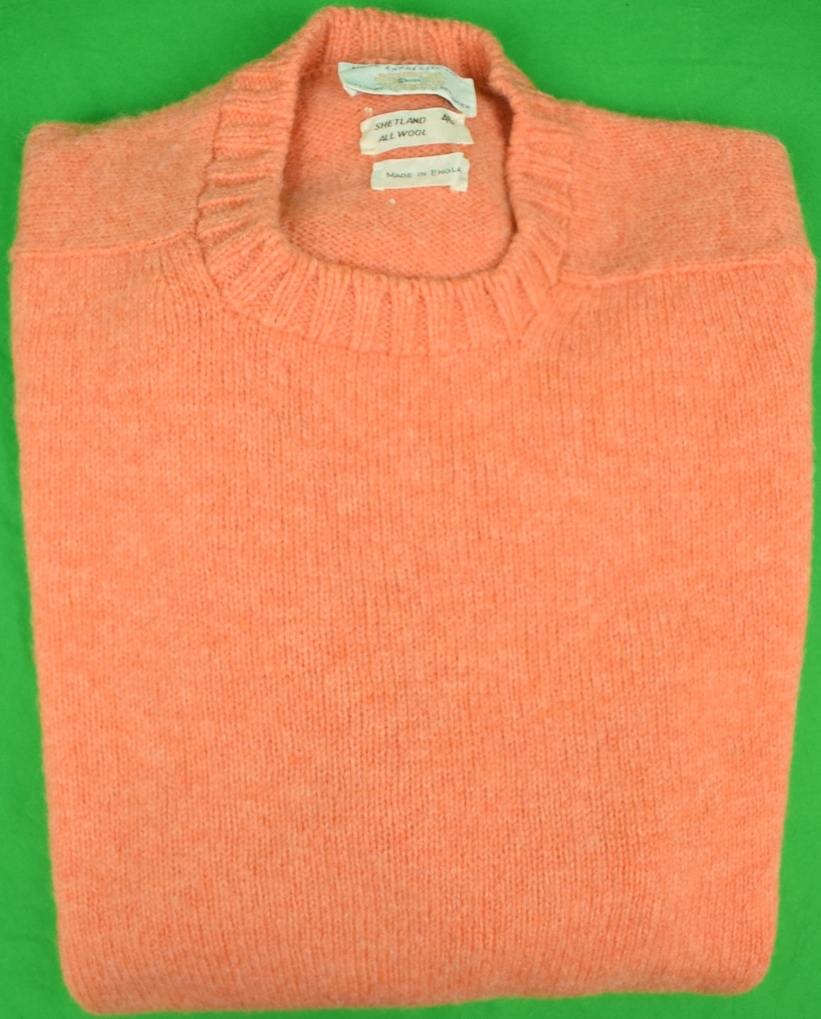Chipp Coral Shetland Crew Neck Sweater Made in England Sz: 46