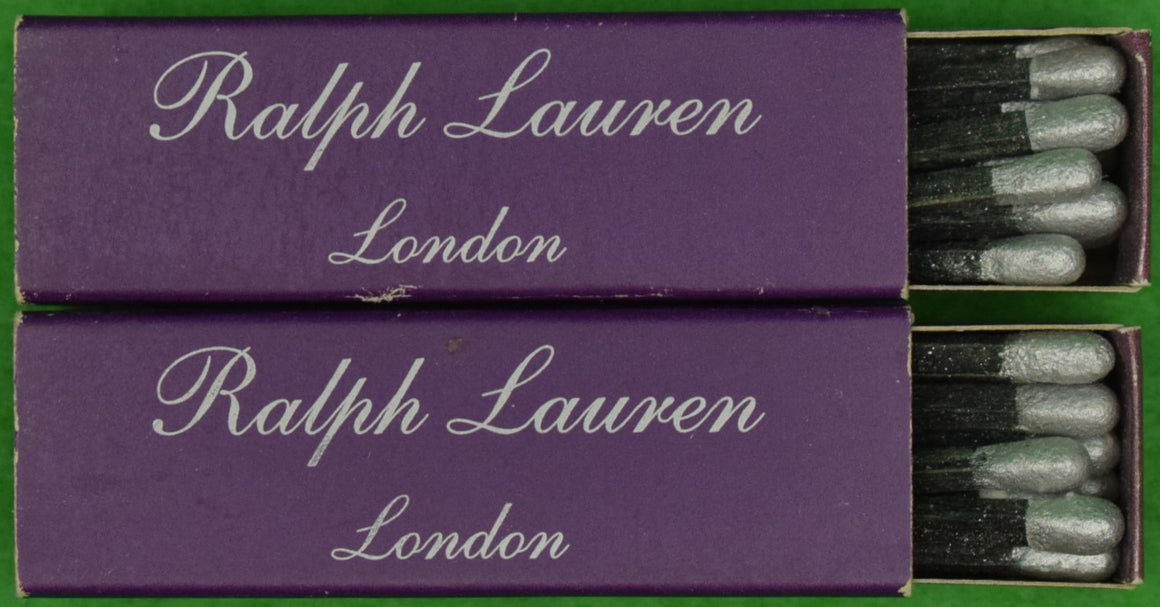 Pair of Ralph Lauren London Purple Matchbooks