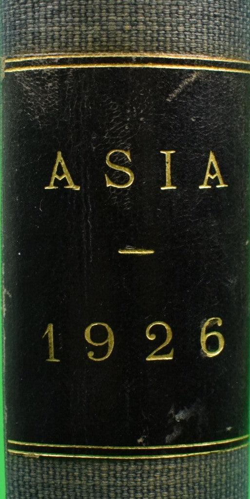 Asia 8 May-December Bound Issues 1926