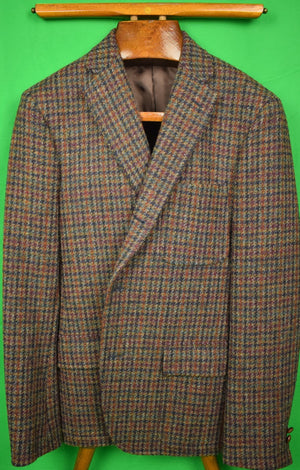 J Press Houndstooth Harris Tweed Sport Jacket c.2012 Sz: 40R