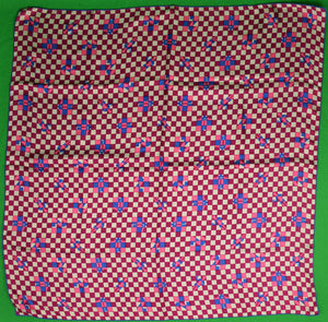 """21"" Club Silk Scarf XXI w/ Jockey Pattern"