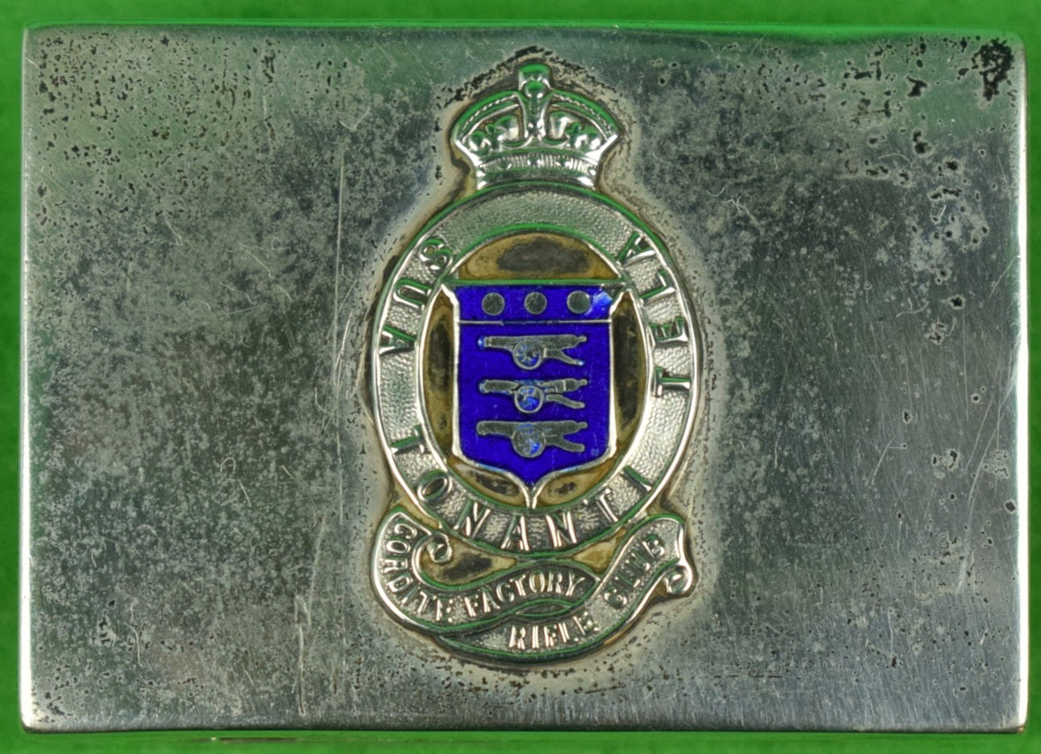 Cordite Factory Rifle Club Enamel Crest Sterling Matchbook Holder