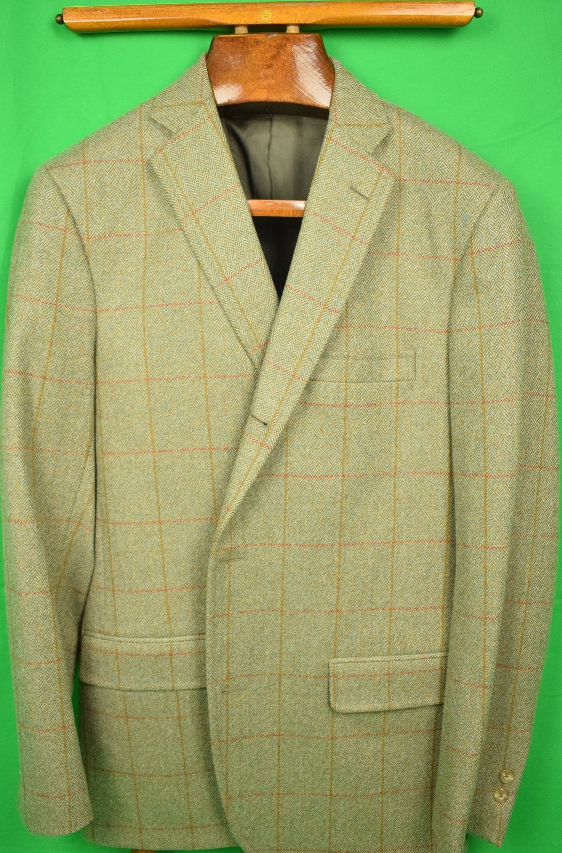 """J Press/ Robert Noble Gamekeeper Tweed Huntsman Jacket Woven in Scotland"" Sz: 40L"