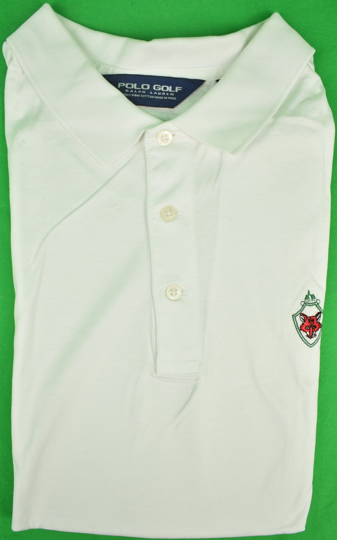 Ralph Lauren Polo White Golf Shirt w/ Fox Chapel Club Logo Sz: XXL