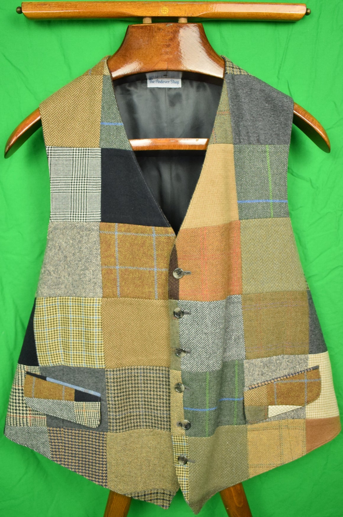 The Andover Shop Patch Cashmere Tweed Vest Sz: 46L