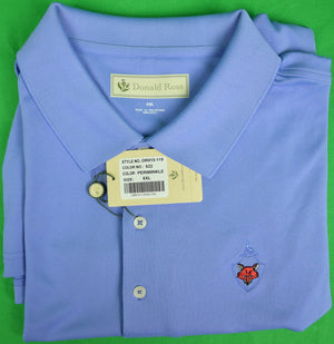 Donald Ross Periwinkle S/S Golf Shirt w/ Fox Chapel Golf Club Logo Sz: XXL (New w/ Tag!)