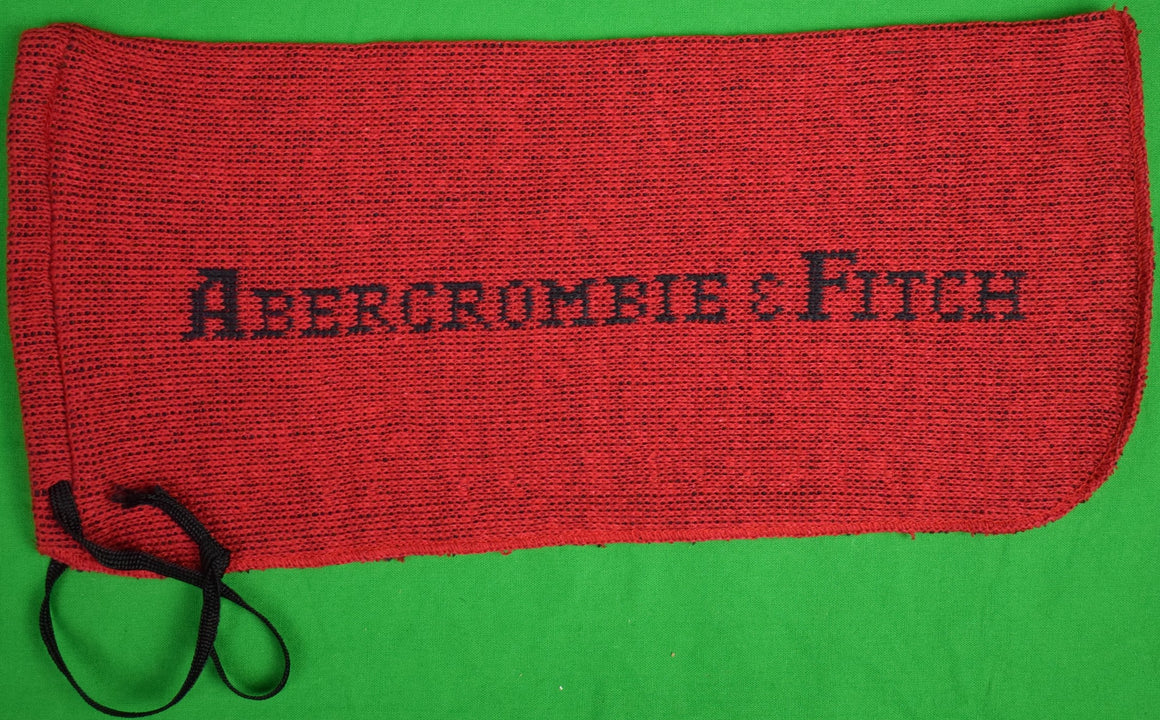 "Abercrombie & Fitch Red Knit Shoe Bags Sz: 13.5""L x 6""H"