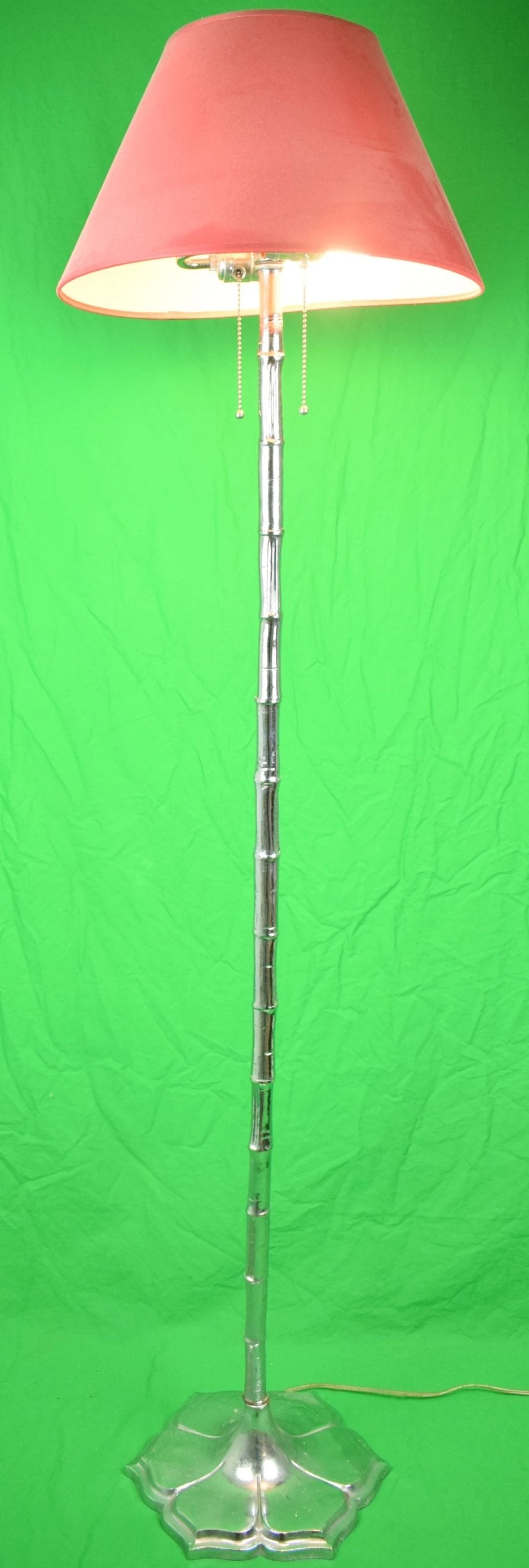 Silver Bamboo Floor Lamp