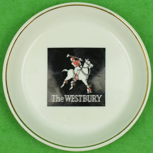 """The Westbury Hotel Polo Player Porcelain Ashtray/ Coaster"""
