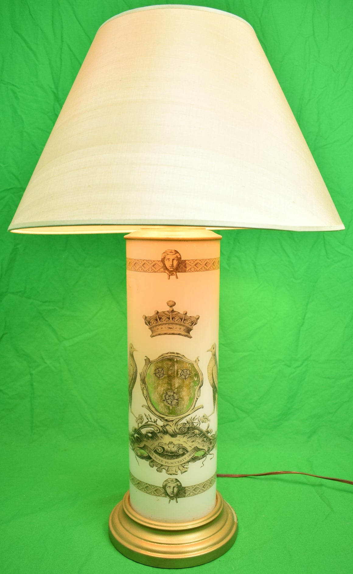 Decoupage Heraldic Table Lamp