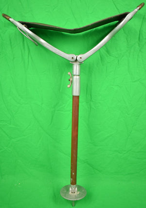 Abercrombie & Fitch Shooting Stick w/ Leather Seat Made in England