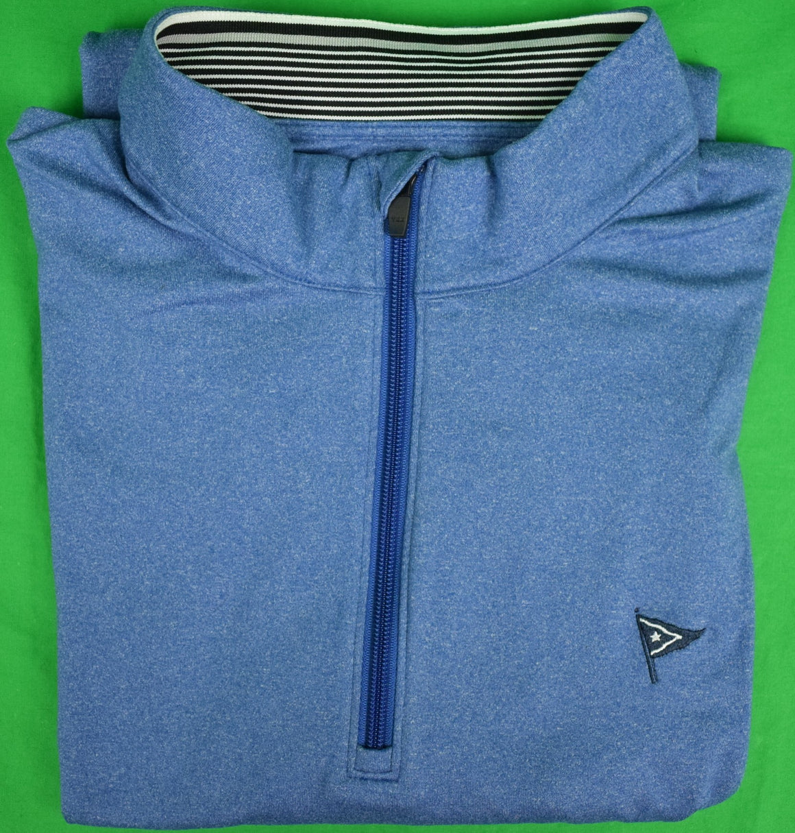 Cutter & Buck Heather Blue 1/2 Zip L/S Shirt w/ Nantucket Yach Club Logo Sz: XXL (SOLD)