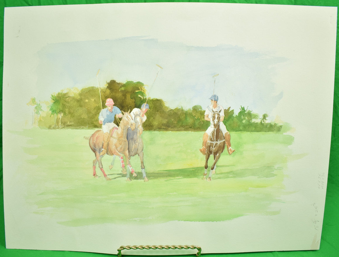 """3 Polo Players"" by Williamson Douglas (1942-1998)"
