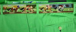 "Hand-Needlepoint Horse-Racing Belt Sz: 35""W (SOLD!)"