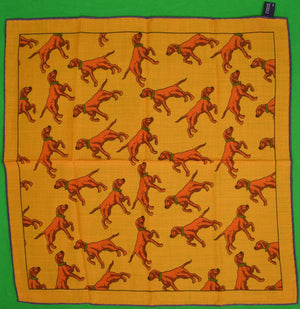 Seaward & Stearn Hunting Dog Orange Pocket Square