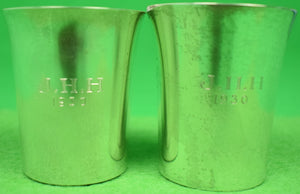 Pair of Sterling Jigger Cups Engraved J. H. H 1930
