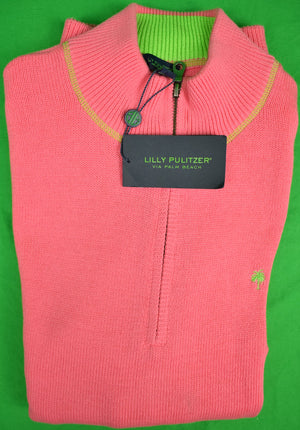 Lilly Pulitzer Hot Pink Men's Sweater Sz: L (New 'Deadstock' w/ Tags!)