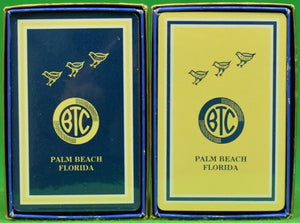 """Bath & Tennis Club Palm Beach Twin Sealed Deck of Playing Cards"" (New in Box!)"