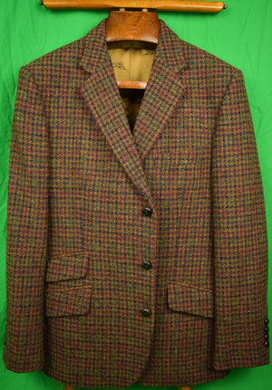 Cordings of Piccadilly Harris Tweed Houndstooth Sport Jacket Sz: 42R