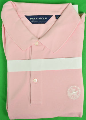 Ralph Lauren Polo Golf Pink S/S Shirt w/ Rolling Rock Club Logo Sz: XXL