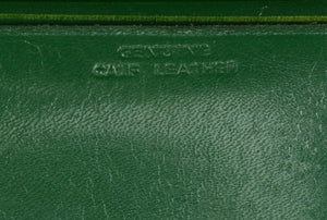 "Jack & Charlie's ""21"" Club Green Leather Snap Coin Purse"