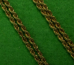 """15 1/2""L Gold 'Rope-Twist' Link Pocket Watch Fob"""