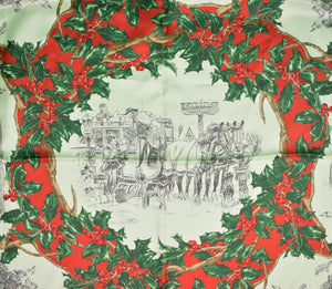 Brooks Brothers Italian Silk Christmas Scarf w/ Paul Brown Vignette