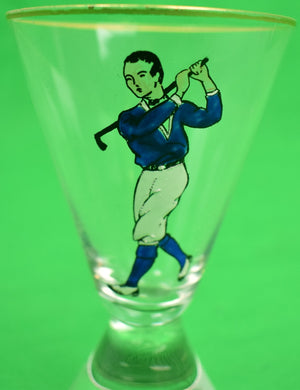 Set of 4 Yale Golfer Cordial Glasses