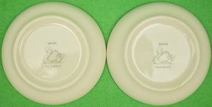 Pair of Gulfstream Polo c1980s Porcelain Coasters