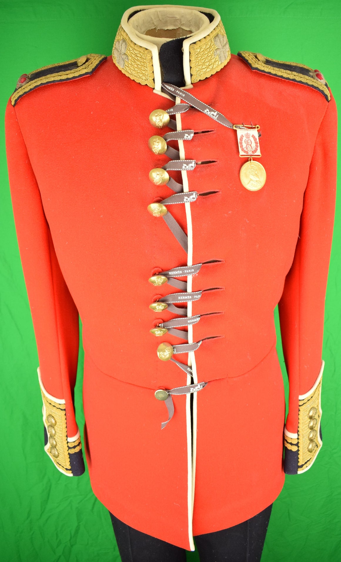 "Irish Guards ""Major"" Officer's 'Full-Parade' 2pc Tunic/ Uniform on Mannequin Stand"