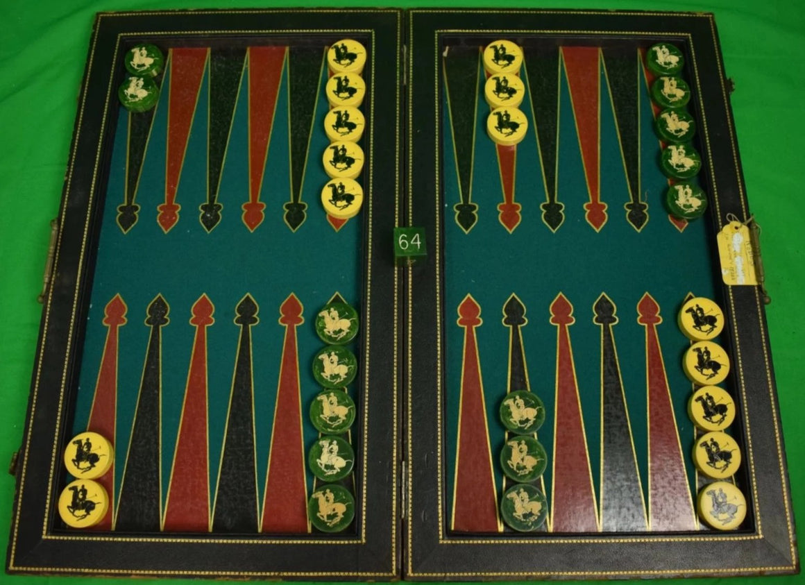 "Amb John Hay ""Jock"" Whitney's ""Polo Player"" c1930s Backgammon Set"