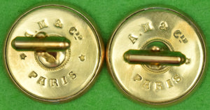 Pair of A.M. & Cie Paris Steeplechase Brass T-Back Cufflinks