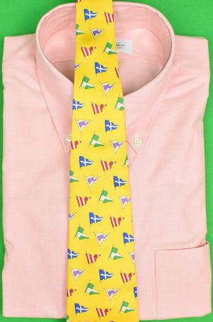 Polo Ralph Lauren Yellow Signal Flag Nautical Silk Tie