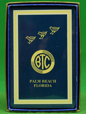 """Bath & Tennis Club Palm Beach Sealed Deck of BTC Navy Playing Cards"" (New in Box!)"